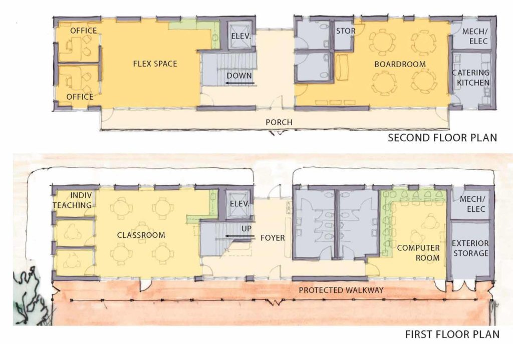 Teaching Kitchen Floor Plan building – full scale architecture
